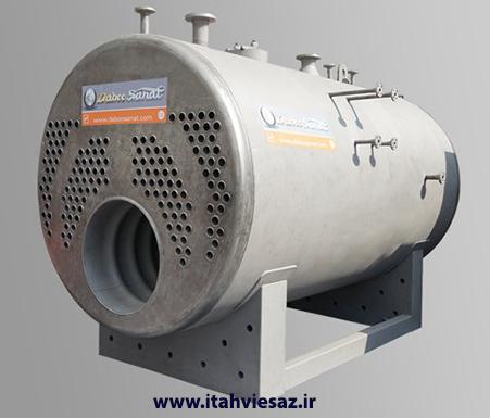 بویلر بخار افقی فایر تیوب دابو صنعت